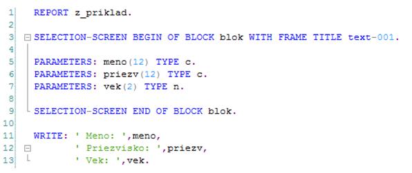 abap zdrojovy kod