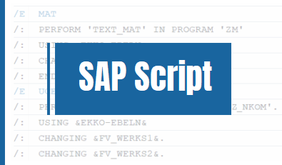 sap script